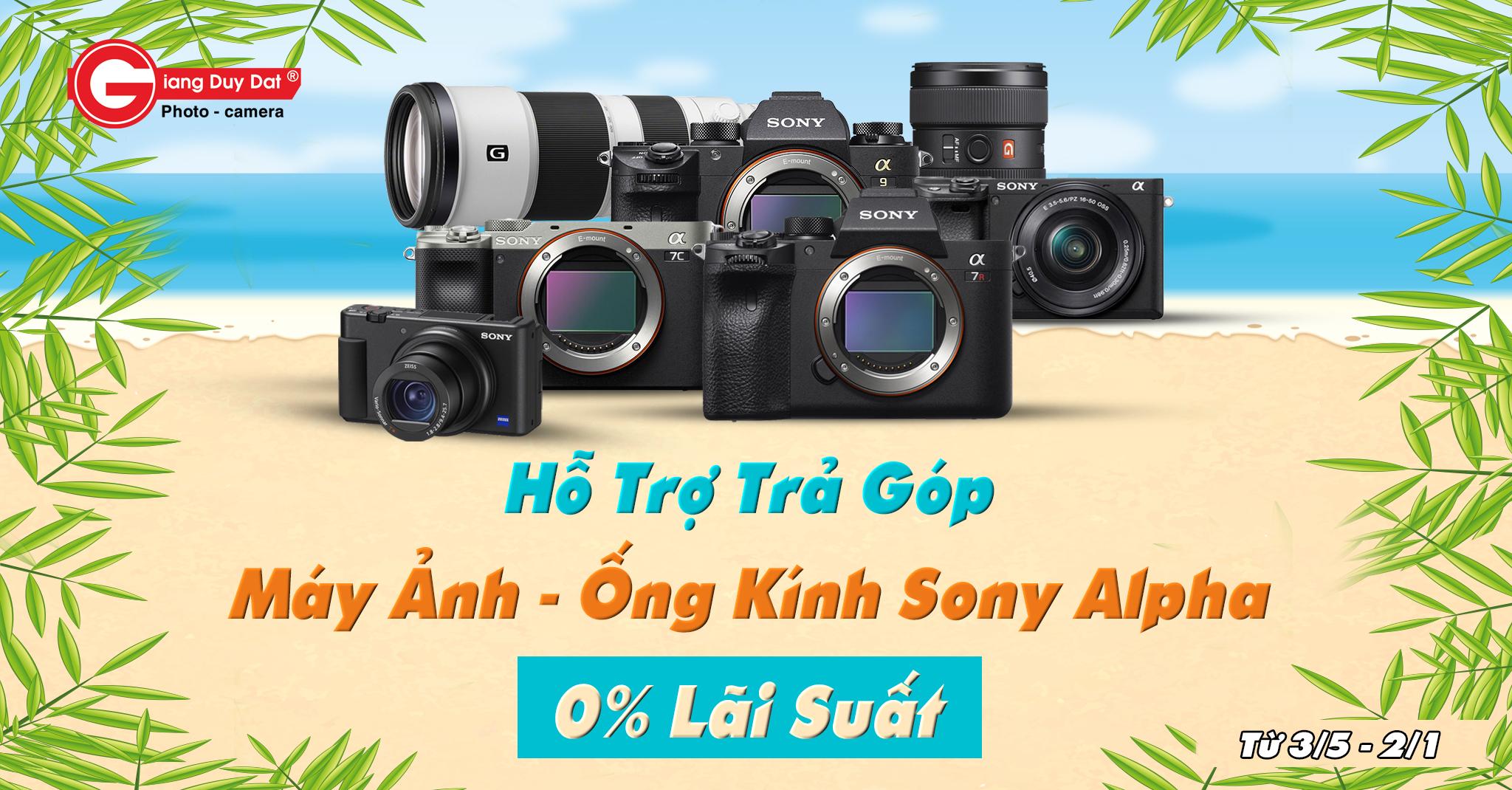 Trả góp máy ảnh - ống kính Sony Alpha