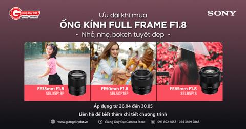 Lens chan dung Sony F1.8 giam ngay 1 trieu