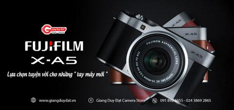 May anh Fujifilm X-A5: Lua chon tuyen voi cho nhung tay may moi