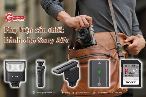 Nhung phu kien can thiet cho may anh Sony A7C