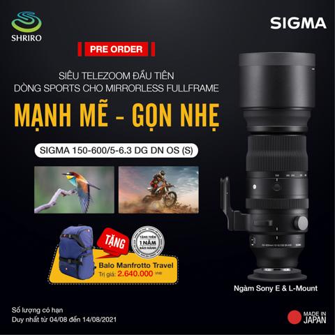 Sigma trinh lang tan binh 150-600/5-6.3 DG DN OS (SPORTS)