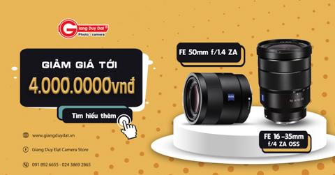 Sony FE 16-35mm Z, FE 55mm F1.8 Z giam den 4 trieu