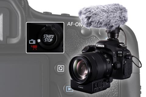 Tinh nang quay phim tien loi tren Canon EOS 80D