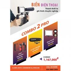 Biến Điện Thoại thành thiết bị ghi hình chuyên nghiệp- COMBO 2 PRO (FU002)