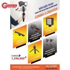 Biến Điện Thoại thành thiết bị ghi hình chuyên nghiệp - COMBO 3 CREATOR (FU003)