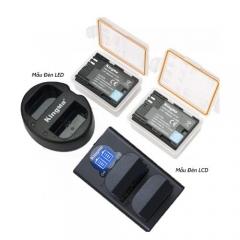 Bộ Pin - Sạc Đôi KingMa Cổng USB Cho Canon LP-E6