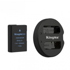 Bộ Pin + Sạc Đôi máy ảnh Kingma EN-EL14