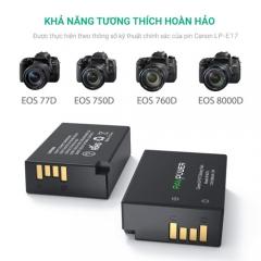 Bộ pin sạc Li-ion cho Canon LP-E17 dùng cho Canon EOS 77D 750D 760D 8000D