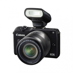 Canon EOS M2 with EF-M 18-55mm + Flash 90EX