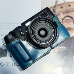 Halfcase Fujifilm X100T (Handmade - Xanh dương)