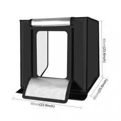 Hộp chụp sản phẩm tích hợp đèn LED 60x60cm