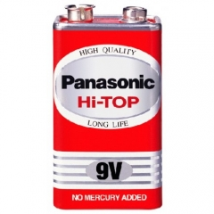 Panasonic HI-TOP 9V BATTERIES Red Color