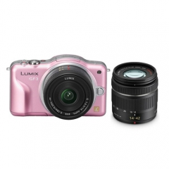Panasonic Lumix DMC-GF3 with 14-42mm Lens Kit (Pink)