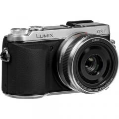 Panasonic Lumix DMC-GX7 with 20mm f/1.7 II ASPH. Lens (Silver)