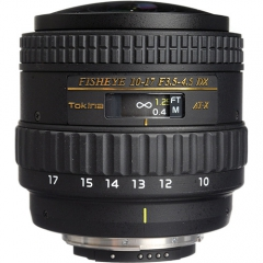 Tokina AF 10-17mm F3.5-4.5 AT-X DX Fisheye for Canon/Nikon