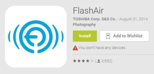 Hướng dẫn kết nối thẻ nhớ wifi FlashAir TOSHIBA - Giang Duy Đạt